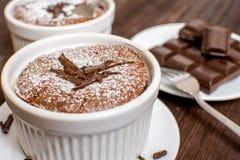 Παραδοσιακό souffle σοκολάτας Στοκ εικόνες με δικαίωμα ελεύθερης χρήσης