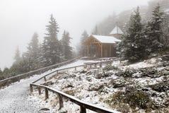 Παρεκκλησι στο μεγάλο βουνό Arber Στοκ Εικόνες