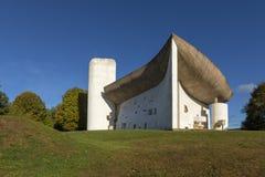 Παρεκκλησι της Notre Dame du Haut από τον αρχιτέκτονα Le Corbusier στοκ φωτογραφίες με δικαίωμα ελεύθερης χρήσης