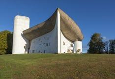 Παρεκκλησι της Notre Dame du Haut σε Ronchamp, Γαλλία στοκ φωτογραφία με δικαίωμα ελεύθερης χρήσης