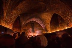 Παρεκκλησι του καρφώματος στην εκκλησία του ιερού τάφου Στοκ Εικόνα