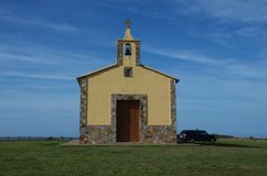 Παρεκκλησι του santa gadea tapia de casariego Ισπανία στοκ εικόνες