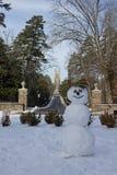 Παρεκκλησι δουκών με το χιονάνθρωπο Στοκ φωτογραφίες με δικαίωμα ελεύθερης χρήσης