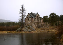 Παρεκκλησι στο βράχο Στοκ Εικόνα