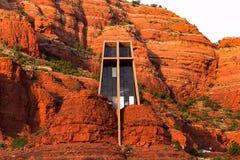 Παρεκκλησι του ιερού σταυρού σε Sedona, Αριζόνα Στοκ Εικόνες