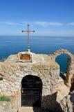Παρεκκλησι του ST Nicholas στο ακρωτήριο Kaliakra Στοκ Φωτογραφίες