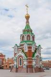 Παρεκκλησι του ST Peter και Fevronia της περιοχής Murom στην πατριαρχική Δημοκρατία των Μάρι EL, Yoshkar-Ola, Ρωσία 05/21/2016 Στοκ φωτογραφίες με δικαίωμα ελεύθερης χρήσης