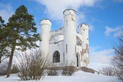 Παρεκκλησι Ludwigstein την ημέρα Φεβρουαρίου Πάρκο φέουδων Monrepos Στοκ εικόνα με δικαίωμα ελεύθερης χρήσης