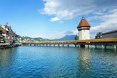 παρεκκλησι luzern γεφυρών Στοκ Εικόνα