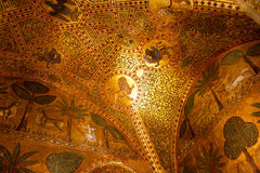Παρεκκλησι Palatina, νορμανδικό παλάτι 12ου Γ, Παλέρμο στοκ εικόνα με δικαίωμα ελεύθερης χρήσης