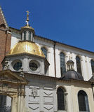 Παρεκκλησι Sigismund & πύλη εισόδων καθεδρικών ναών Wawel στην Κρακοβία, Πολωνία Στοκ Εικόνες