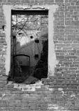παρελθόν στο παράθυρο Στοκ Εικόνα