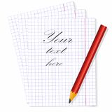 Παρεμβάλτε το κείμενο και λάβετε το αρχικό μήνυμα στο σημειωματάριο διανυσματική απεικόνιση