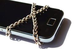 Παρεμποδισμένη έξυπνη ιδέα τηλεφωνικής έννοιας στοκ φωτογραφία με δικαίωμα ελεύθερης χρήσης