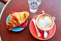 παρισινή οδός καφέδων προ&gamma Στοκ Εικόνα