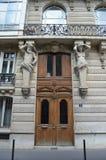Παρισινή πόρτα Στοκ φωτογραφίες με δικαίωμα ελεύθερης χρήσης