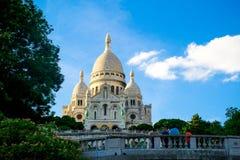 ΠΑΡΙΣΙ, ΓΑΛΛΙΑ - 21 ΑΥΓΟΎΣΤΟΥ 2012: Λα Basilique du Sacré CÅ «ur de στοκ εικόνα