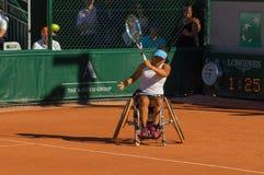 ΠΑΡΙΣΙ, ΓΑΛΛΙΑ - 10 ΙΟΥΝΊΟΥ 2017: Ρόδα διπλασίων γυναικών του Roland Garros Στοκ Εικόνα