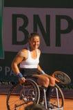ΠΑΡΙΣΙ, ΓΑΛΛΙΑ - 10 ΙΟΥΝΊΟΥ 2017: Ρόδα διπλασίων γυναικών του Roland Garros Στοκ εικόνα με δικαίωμα ελεύθερης χρήσης
