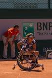 ΠΑΡΙΣΙ, ΓΑΛΛΙΑ - 10 ΙΟΥΝΊΟΥ 2017: FI αναπηρικών καρεκλών γυναικών του Roland Garros Στοκ Εικόνα