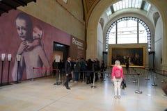 ΠΑΡΙΣΙ, ΓΑΛΛΙΑ - 5 Οκτωβρίου 2018 - έκθεση του Pablo Πικάσο στο μουσείο Orsay στοκ εικόνες