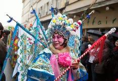 ΠΑΡΙΣΙ, ΓΑΛΛΙΑ - ΣΤΙΣ 10 ΦΕΒΡΟΥΑΡΊΟΥ: Κινεζικό νέο έτος Στοκ Εικόνες