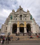 Sacre Coeur της περιοχής Motmartre πόλεων του Παρισιού. 2012 06 19 Παρίσι. Στοκ Εικόνα