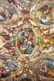 ΠΑΡΜΑ, ΙΤΑΛΙΑ, 2018: Η νωπογραφία Nativity στο ανώτατο όριο του degli Angeli Di Σάντα Μαρία Chiesa εκκλησιών από την αποβάθρα Ant Στοκ εικόνα με δικαίωμα ελεύθερης χρήσης