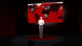 Παρουσίαση γυναικών givig για την επιχειρησιακή ζωή απόθεμα βίντεο