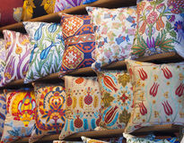Παρουσίαση μαξιλαριών σε μια απώλεια ταχύτητος στηρίξεως αγοράς Στοκ Εικόνα