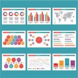 Παρουσίαση σε Infographics - διανυσματική απεικόνιση Στοκ Φωτογραφίες