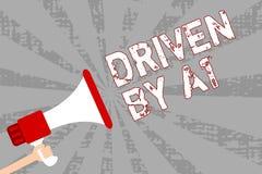 Παρουσίαση σημειώσεων γραψίματος Drive από το Α1 Κίνηση επίδειξης επιχειρησιακών φωτογραφιών ή ελεγχόμενος από έναν οδηγό κορυφαί ελεύθερη απεικόνιση δικαιώματος