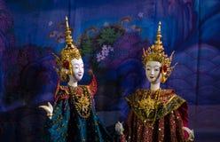 Παρουσίαση ταϊλανδικών παραδοσιακών μαριονετών Στοκ φωτογραφία με δικαίωμα ελεύθερης χρήσης