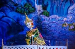 Παρουσίαση ταϊλανδικών παραδοσιακών μαριονετών Στοκ φωτογραφίες με δικαίωμα ελεύθερης χρήσης