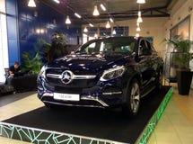 Παρουσίαση του αυτοκινήτου Mercedes GLE Στοκ εικόνα με δικαίωμα ελεύθερης χρήσης