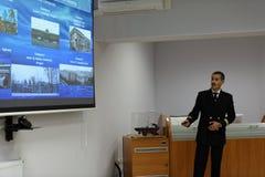 Παρουσίαση του εκπαιδευτικού κέντρου ναυσιπλοΐας πάγου Στοκ Εικόνες