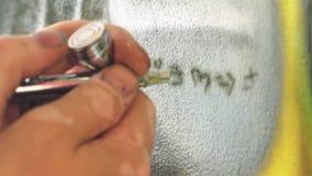 Παρουσίαση των εργασιών airbrush διανυσματική απεικόνιση