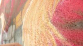 Παρουσίαση των εργασιών airbrush απόθεμα βίντεο