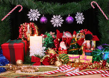 παρουσίαση Χριστουγένν&omega Στοκ Εικόνα