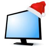 παρουσίαση LCD Χριστουγένν&o διανυσματική απεικόνιση