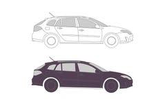 παρουσίαση s αυτοκινήτων διανυσματική απεικόνιση