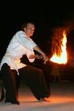 Παρουσιάστε με την πυρκαγιά Στοκ Εικόνες