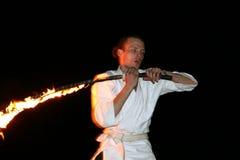 Παρουσιάστε με την πυρκαγιά Στοκ εικόνα με δικαίωμα ελεύθερης χρήσης