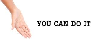 Παρούσα λέξη χεριών Στοκ φωτογραφίες με δικαίωμα ελεύθερης χρήσης