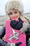 παρούσα γυναίκα Στοκ φωτογραφία με δικαίωμα ελεύθερης χρήσης