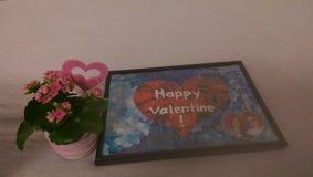 παρούσα εικόνα λουλουδιών βαλεντίνων selfmade Στοκ φωτογραφίες με δικαίωμα ελεύθερης χρήσης