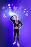 Παρόντα επιχειρησιακά σύμβολα ατόμων mime Στοκ Εικόνες