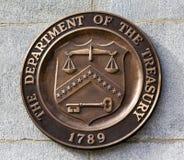 Παρόν αμερικανικό Υπουργείο Θησαυροφυλακίου Washington DC συμβόλων σημαδιών σφραγίδων στοκ φωτογραφία με δικαίωμα ελεύθερης χρήσης