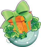 Παρόν για την ημέρα St.Patricks. Στοκ Φωτογραφία