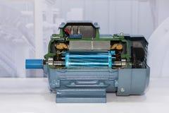 Παρόν εσωτερικό διατομής του βιομηχανικού ηλεκτρικού κινητήρα στην αποθήκευση εργοστασίων στοκ εικόνες